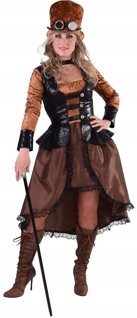 Magic Design sukienka steampunkowa damska poliestr