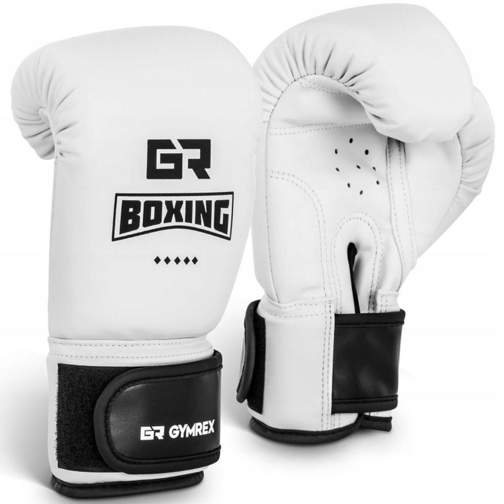 Rękawice bokserskie treningowe dla dzieci 4 oz bia