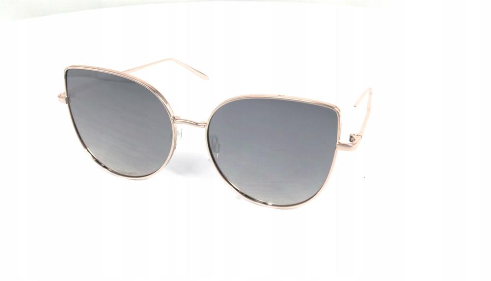 Okulary Przeciwsłoneczne Kocie oczy srebrne
