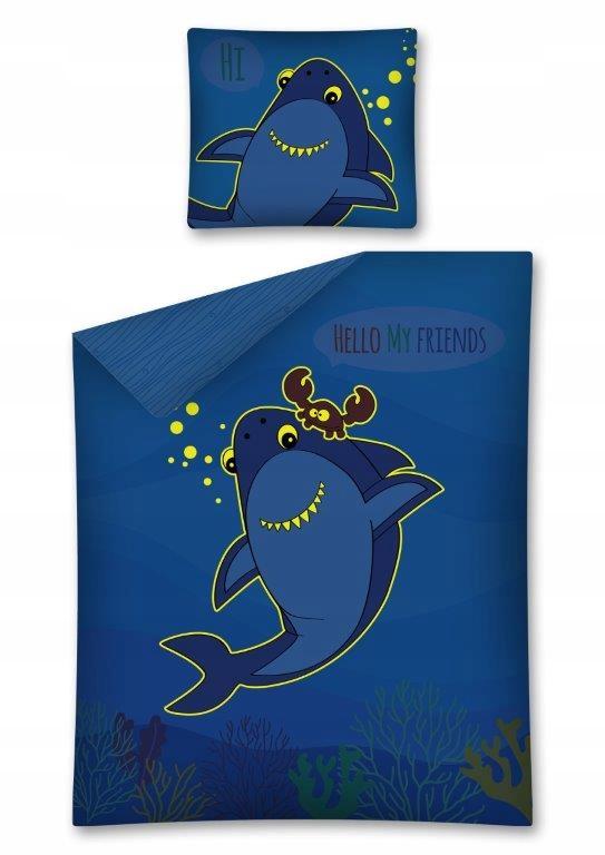 Pościel świecąca Rekin 160x200