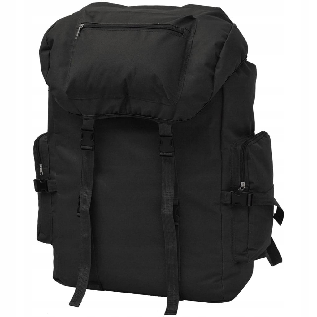 Plecak w wojskowym stylu, 65 L, czarny