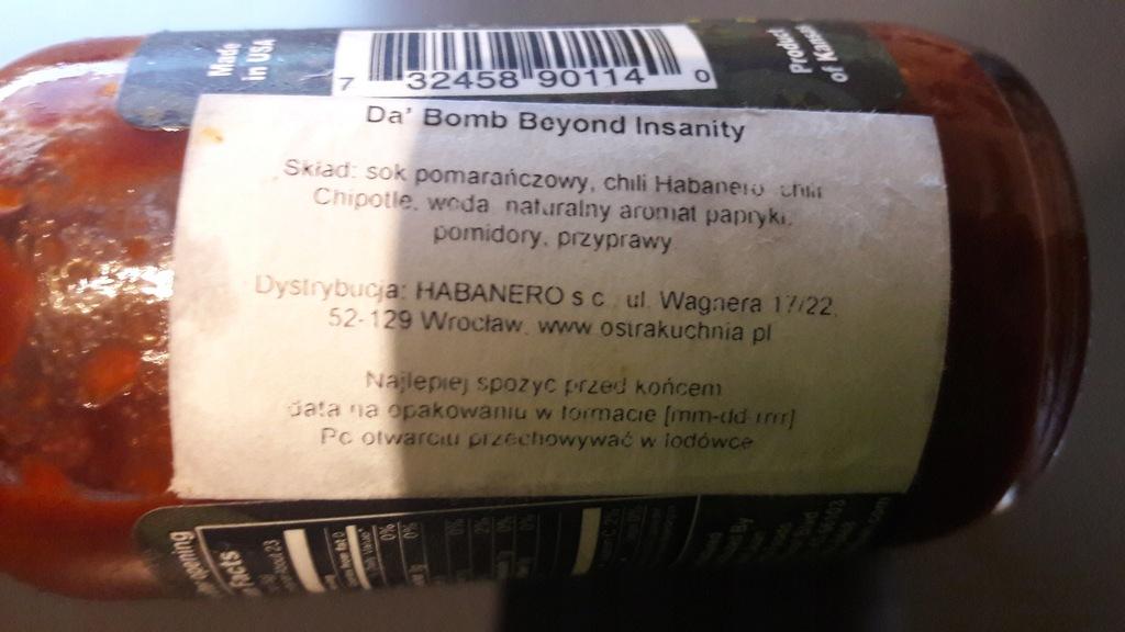 Sos Da Bomb Beyond Insanity 113g 8230812822 Oficjalne Archiwum Allegro
