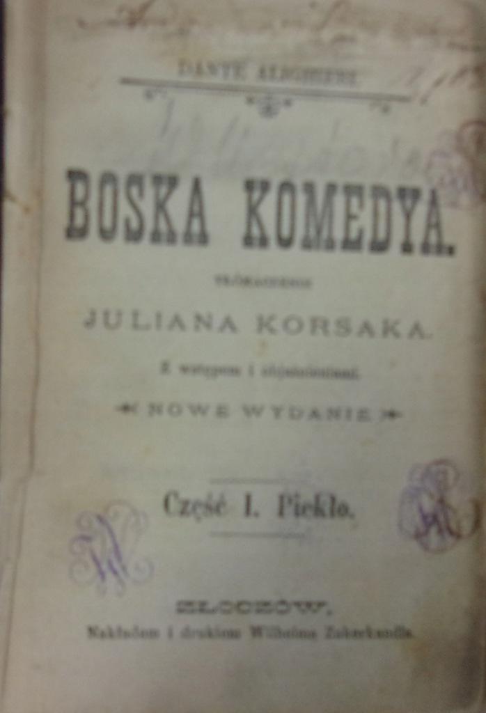 Boska komedya 1887r.