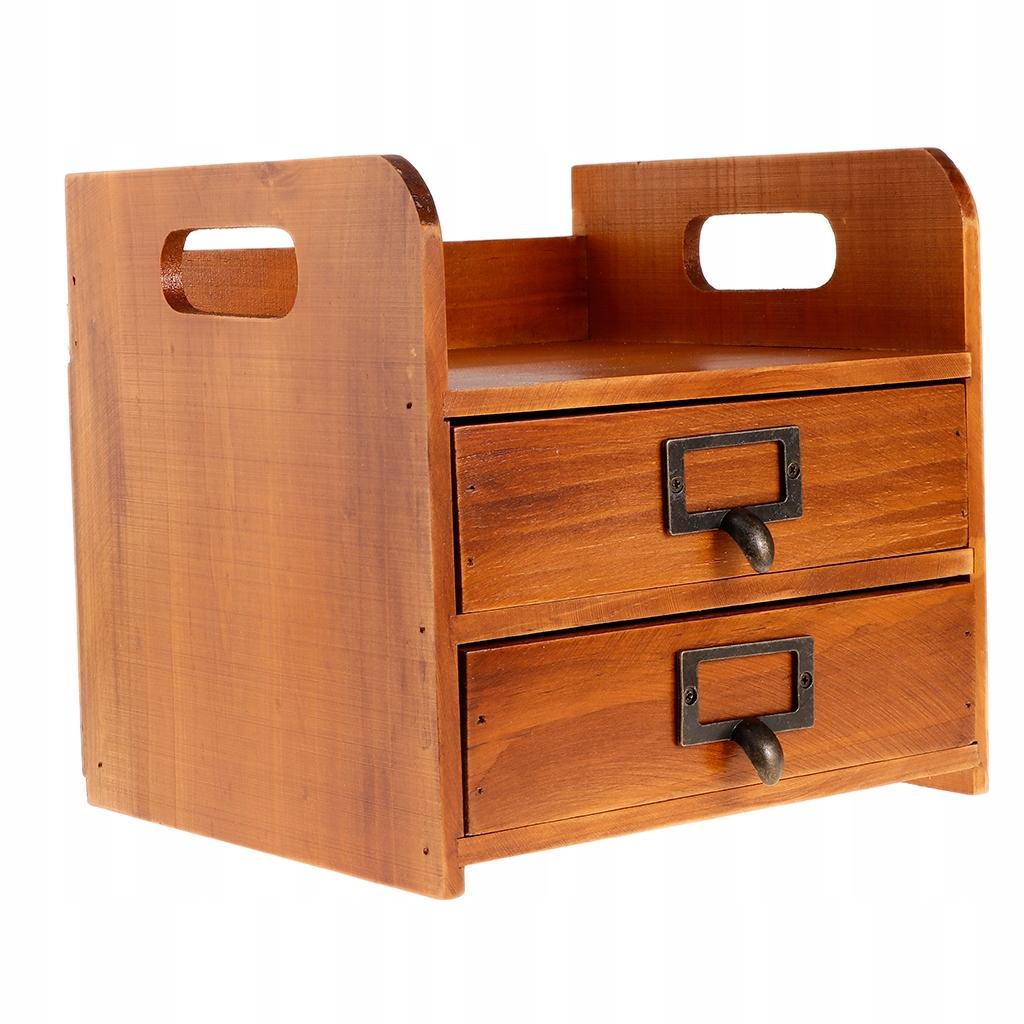 Drewniany Organizer szuflady - Brązowy