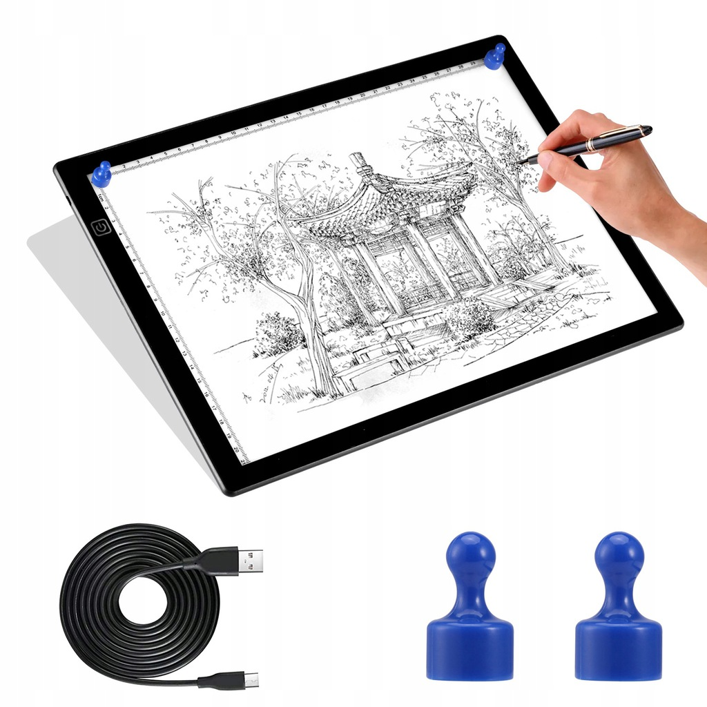 Podświetlana Deska Kreślarska Obraz Tablica A4 LED