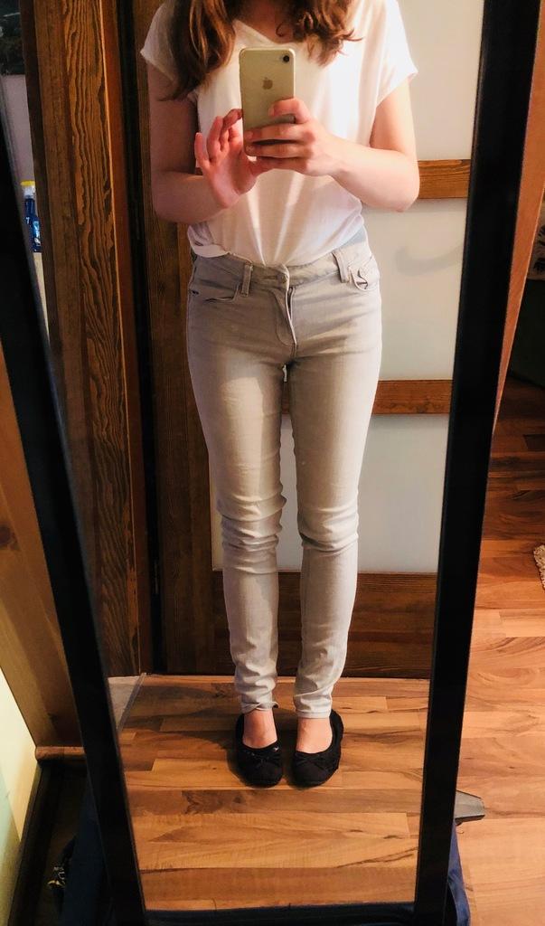 H&M spodnie szare 36 S rurki