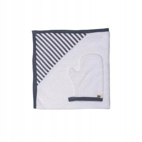 Baby bites ręcznik z kapturkiem 85 x 85 cm + myjka
