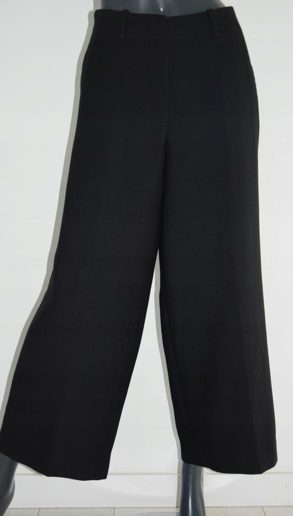 cos czarne spodnie kuloty wełna r. 42.XL