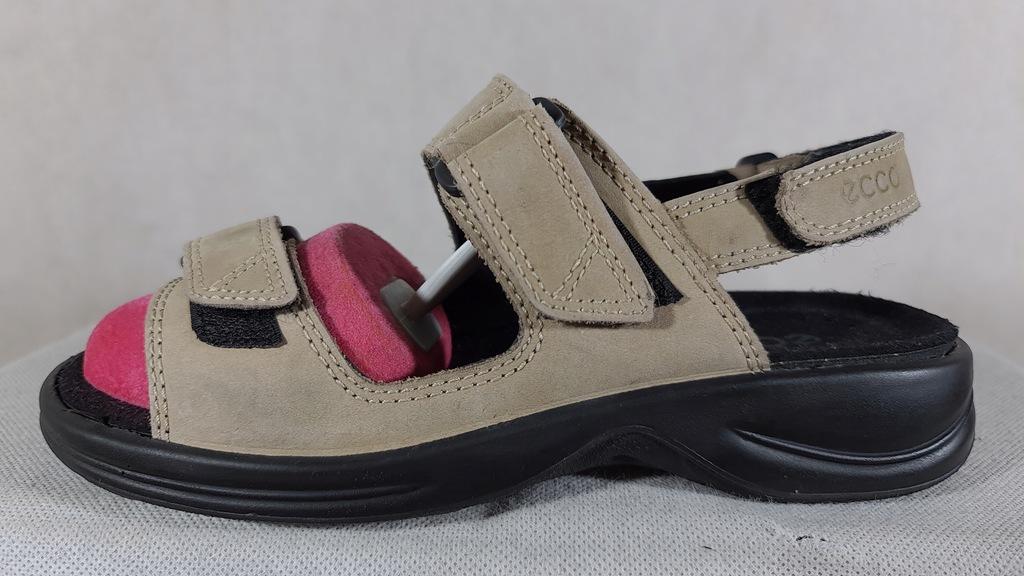 ECCO skórzane sandały r.37,wkł 24,5 S.IDEALNY