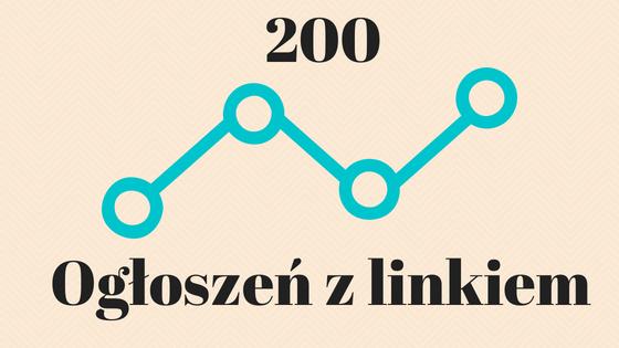 200 ogłoszeń z linkiem na portalach ogłoszeniowych