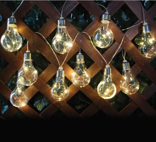 LAMPKA LED BIAŁA 10 SZT OGRÓD WISZĄCA