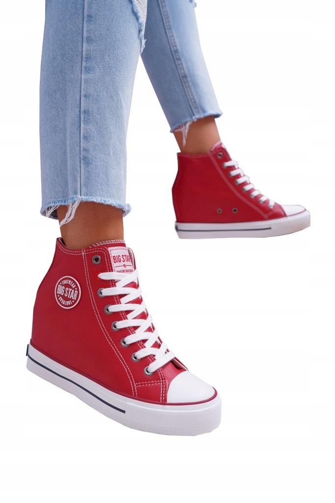Sneakersy Damskie Big Star Czerwone EE274614 (41)