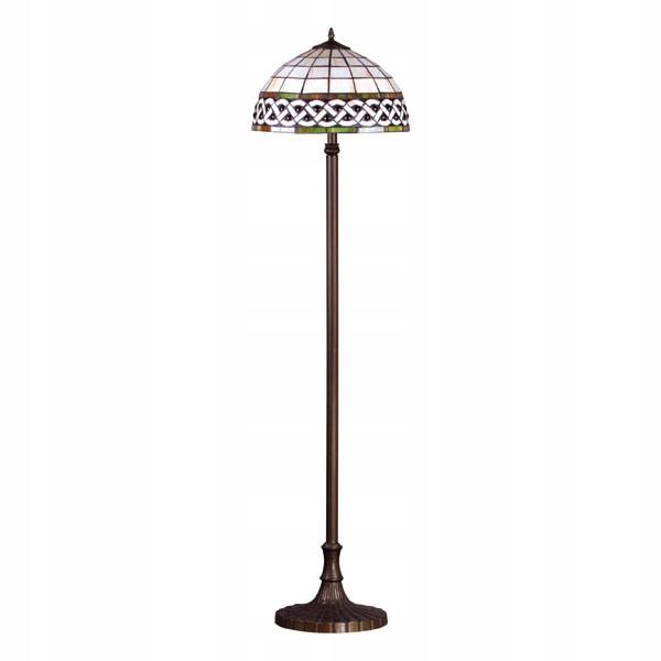 Lampa podłogowa witrażowa 2-pł TIFANY