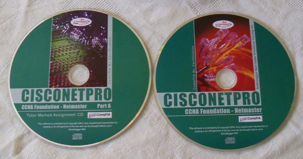 CISCONETPRO CCNA Foundation komplet dwie płytki CD