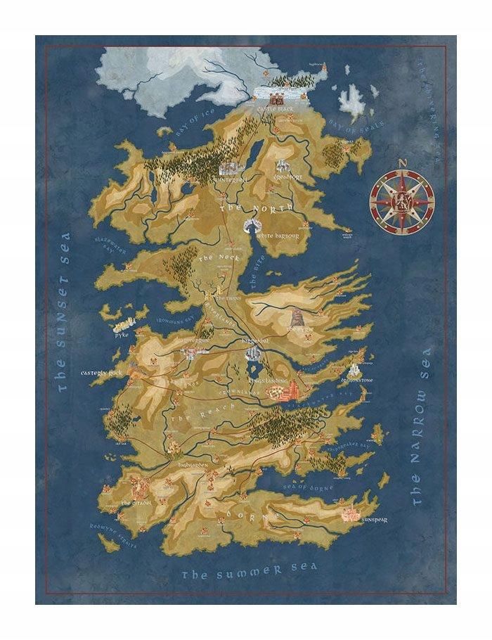 Game Of Thrones Westeros Map Puzzle 1000 8602514359 Oficjalne Archiwum Allegro