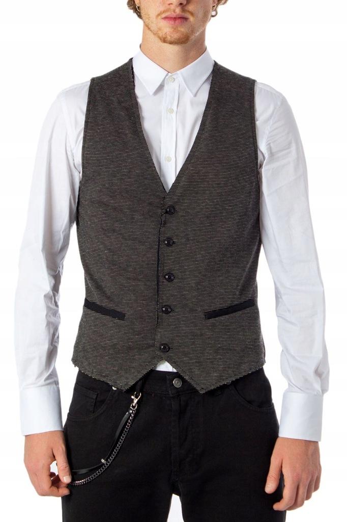 HYDRA CLOTHING MĘŻCZYZN CZARNY KAMIZELKI 50 IT