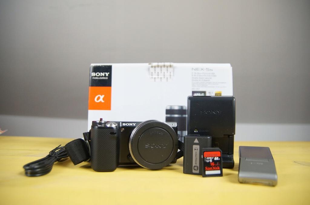 Sony NEX-5N Body 1080p50 Dotykowy BDB+ Lampa