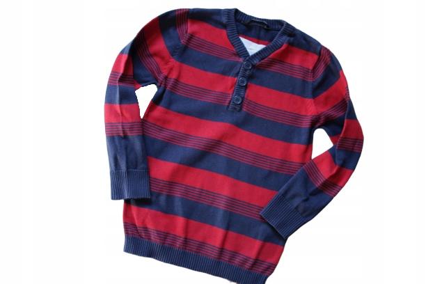 George 5-6lat sweterek w paseczki 116