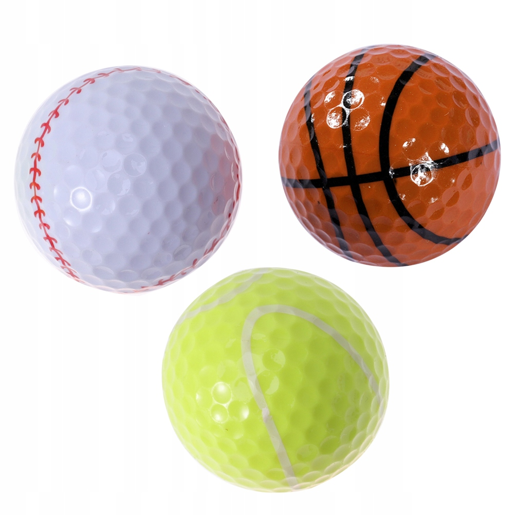 3 SZTUK Tematyka sportowa Trening z piłką golfową