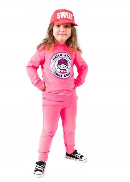 Dres Hello Kitty fluo róż rozmiary 98 - 134 r. 110