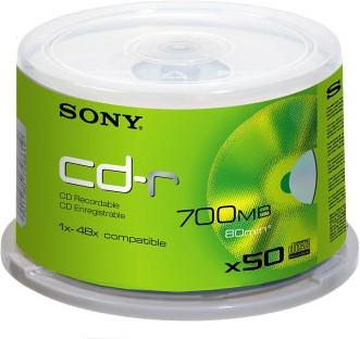 Sony CD-R 700MB 80min 48x Cakebox 50 (47 szt)
