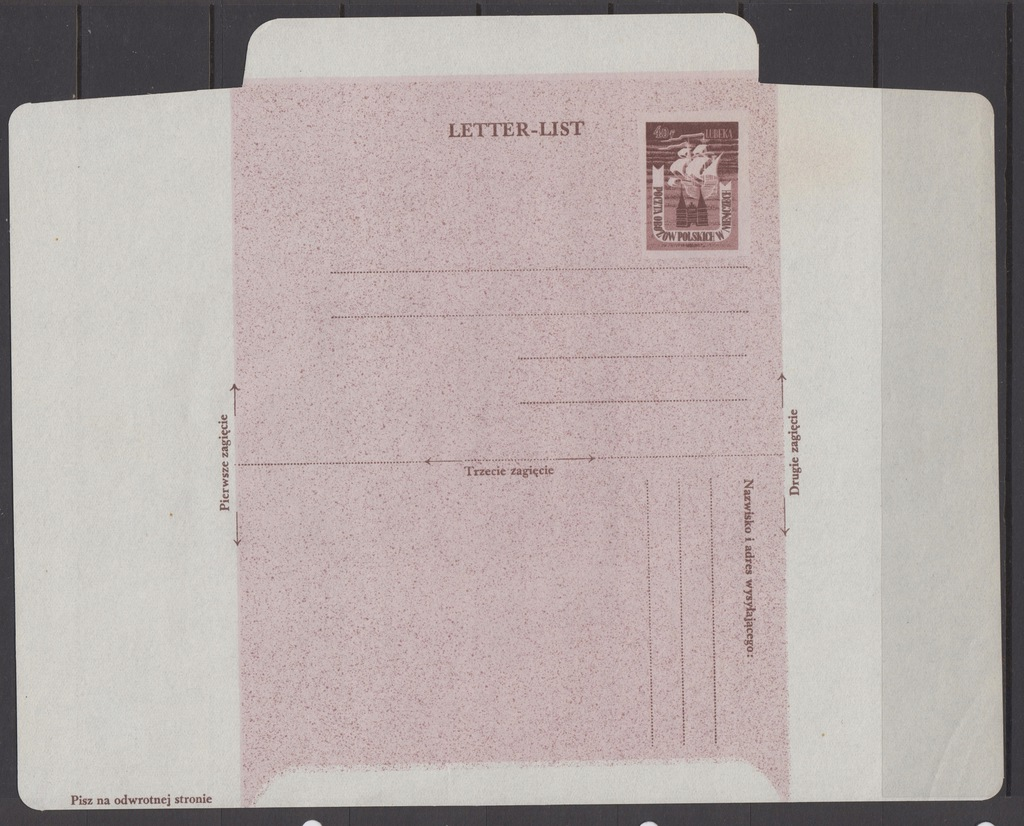 1945r. Fi. Ck. 1**, otwarty Listownik Lubeka