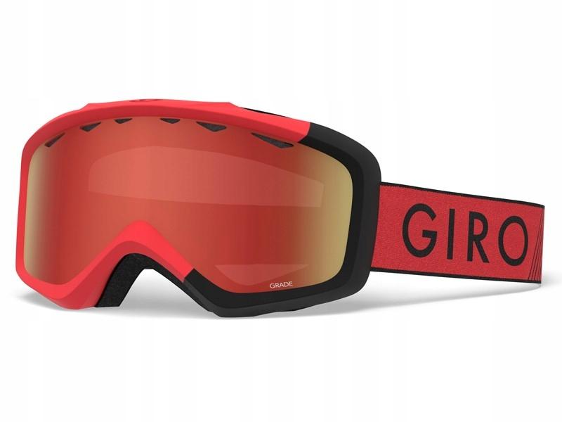 GIRO Gogle zimowe GRADE RED BLACK ZOOM