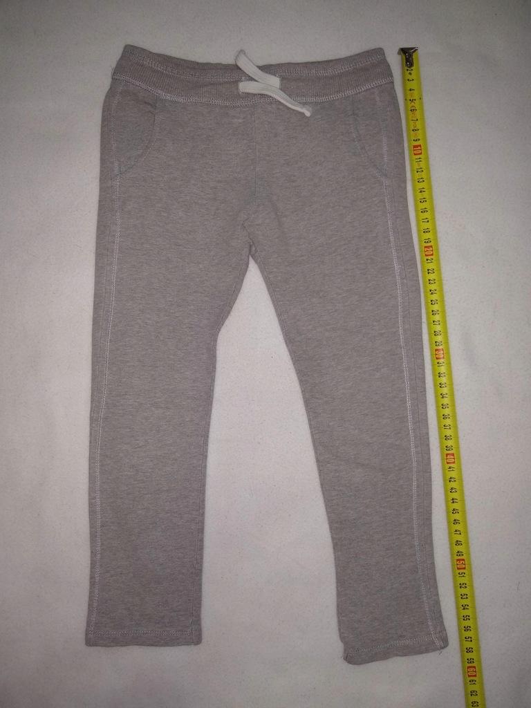 Spodnie dresowe szare Zara roz 110