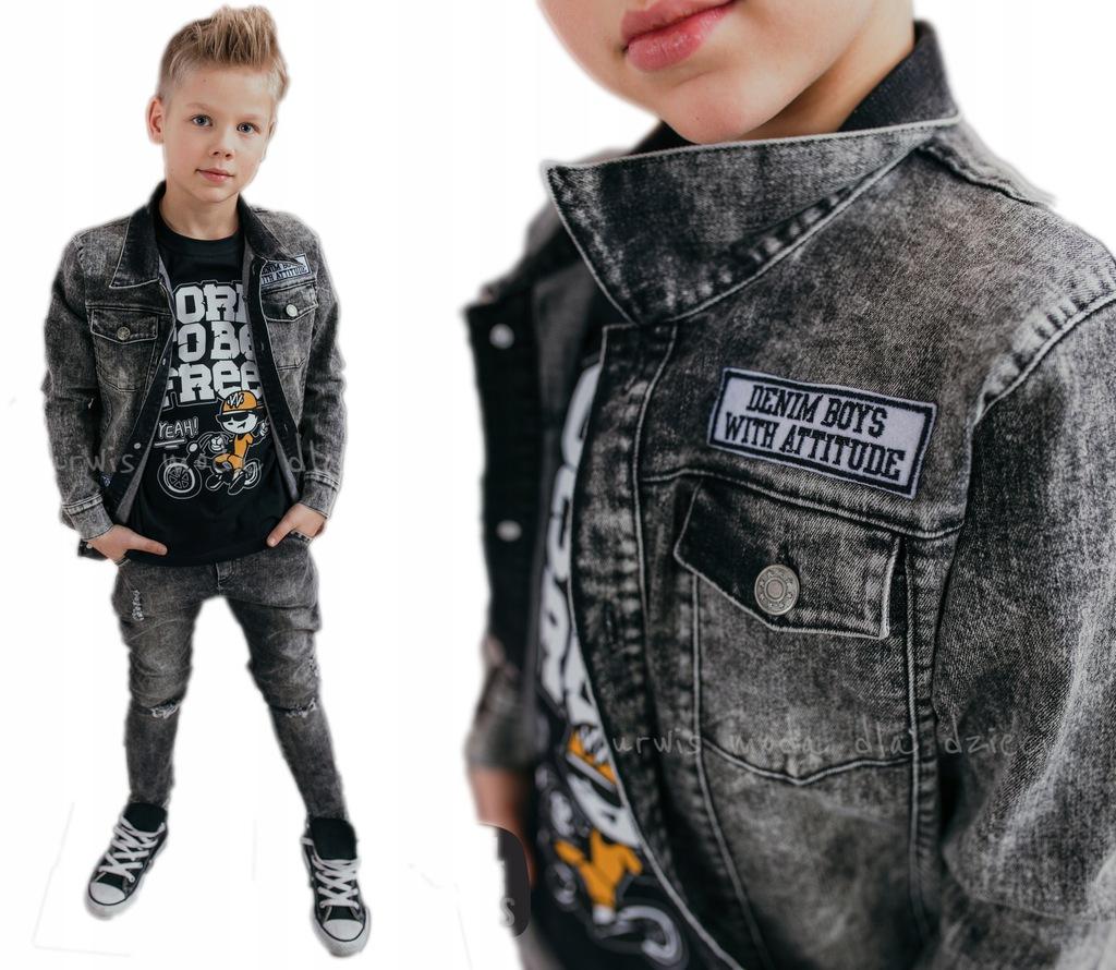 ALL FOR KIDS KURTKA JEANS Denim Boys black 116 122