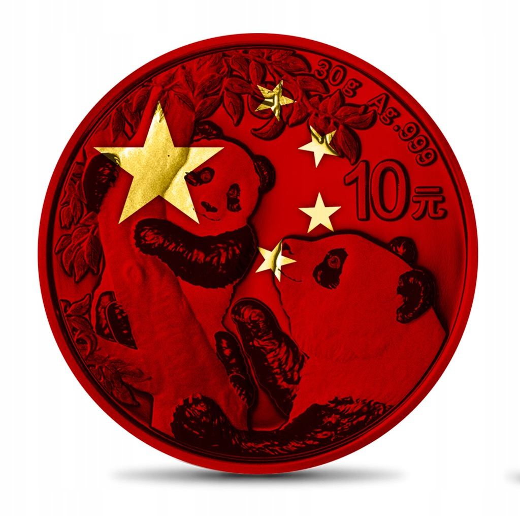 CHINA 2021 - 10Y Panda Chinese Flag - Gold Space