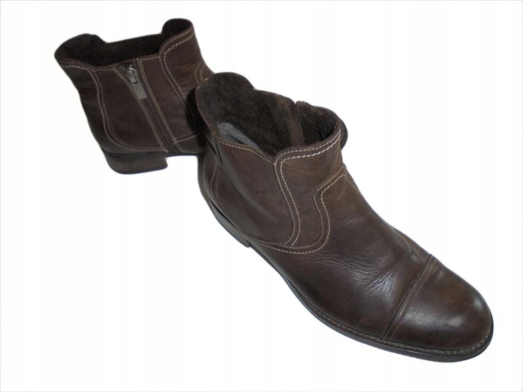 Skórzane buty Ryłko. Stan idealny. Rozmiar 38.