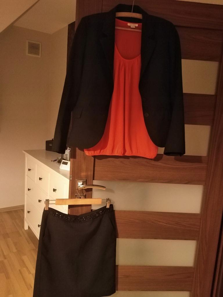 Paka 38,spodnica Reserved,marynarka+bluzka Amisu M