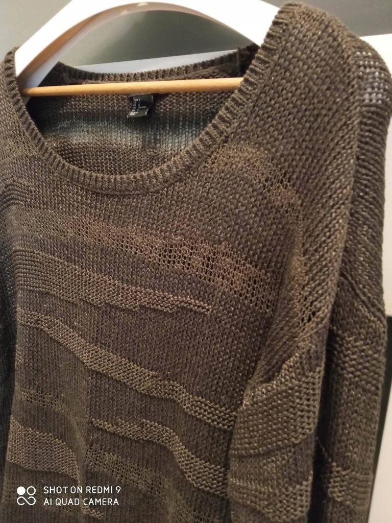 Ażurowy sweter jak siatka rybacka H&M rozm.40