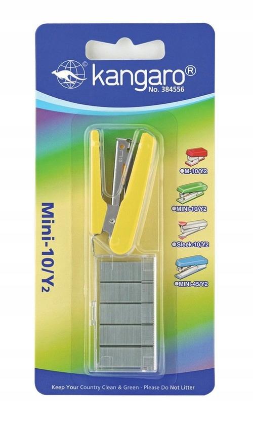 Zszywacz mini-10/Y2 + zszywacz 10 kart żółty