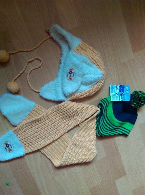 czapka szalik wojcik 92 lupilu 98 chlopiec zima