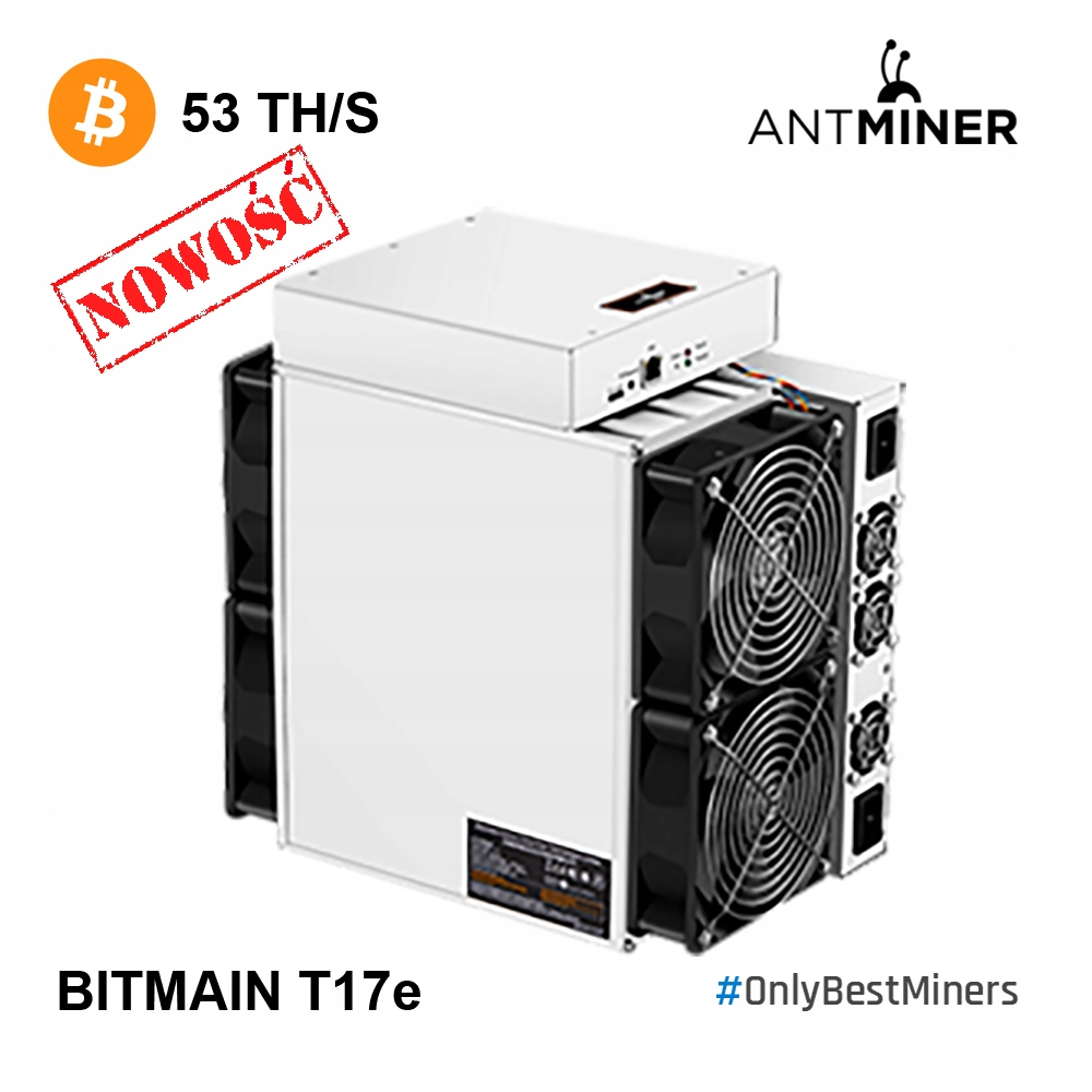 Magazyn! Bitmain Antminer T17e 53Th S17
