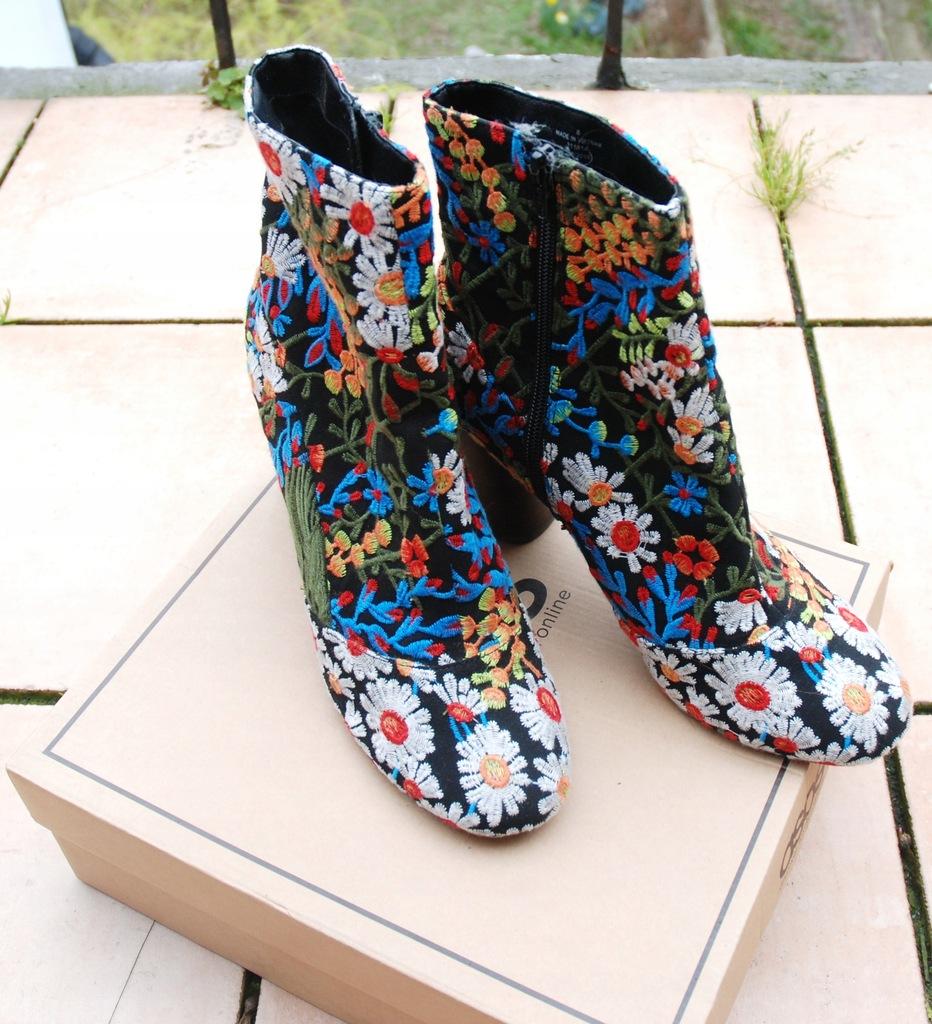 Asos haftowane piękne buty