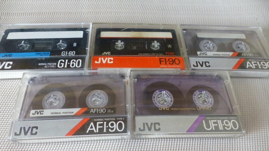 Kasety magnetofonowe JVC - 5 szt.