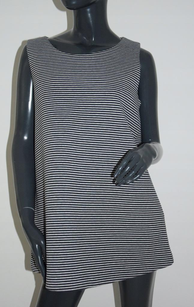 cos szara bluzka top bawełna A-line M/38