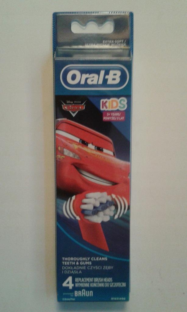 Końcówki Oral-B dla dzieci -autka- oryginał 4 szt.