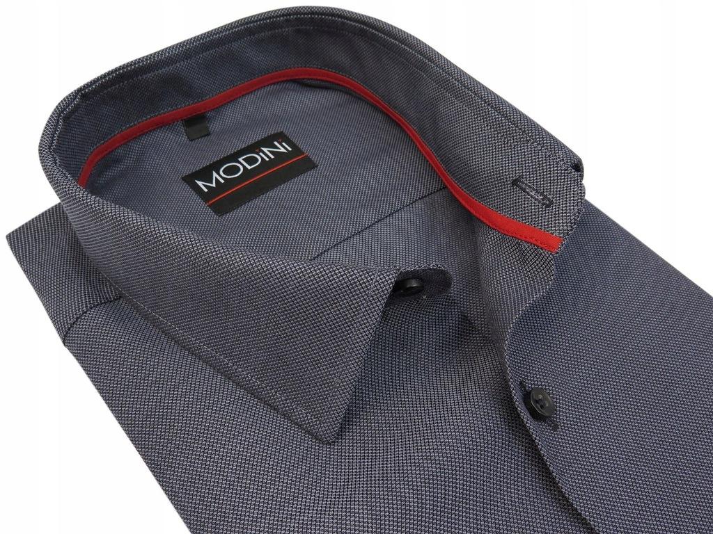 Szara koszula męska MODINI 176-182 44-SLIM FIT MA5