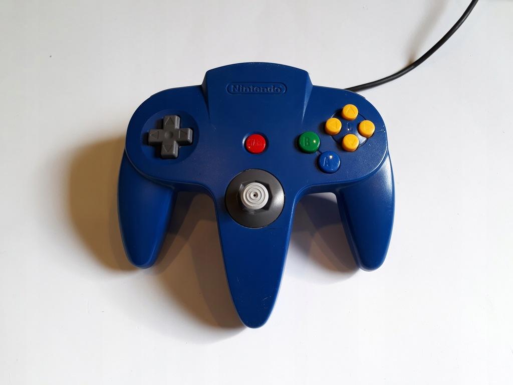 Kontroler Pad N64 oryginał blue NINTENDO