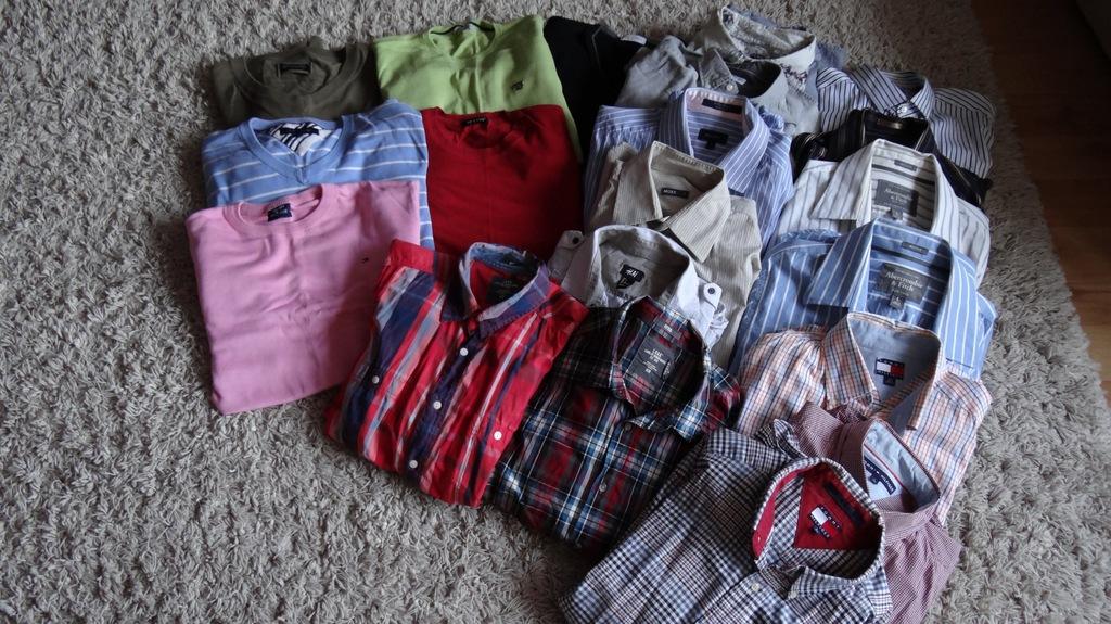 MEGA paka markowych ubrań r.L Hilfiger,Abercrombie
