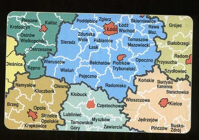KARTA TELEFONICZNA - MAPA POLSKI 8 ZUŻYTA