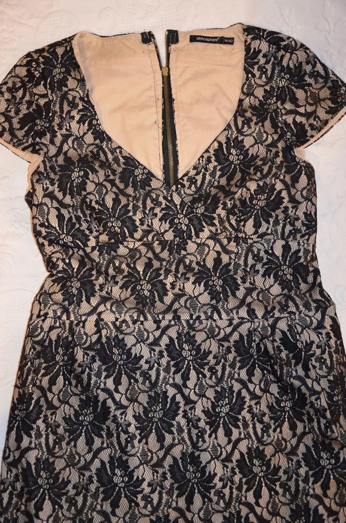Sukienka koktajlowa z koronki, KORONKA rozm. 42