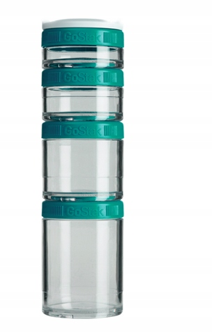 BLENDER BOTTLE GO STACK STARTER 4PAK TEAL
