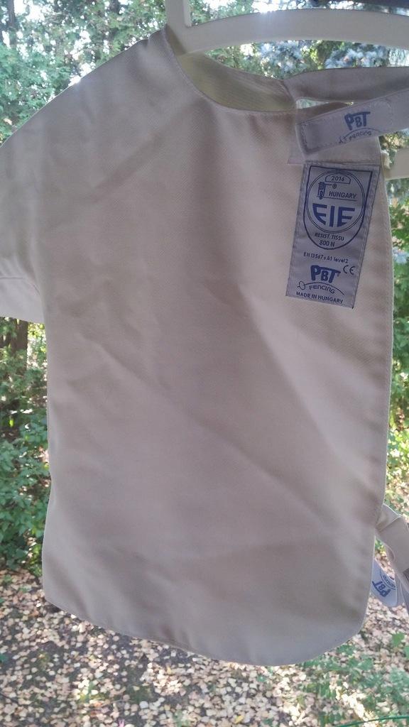 strój do szermierki dziecięcy -PLASTRON PBT 800N