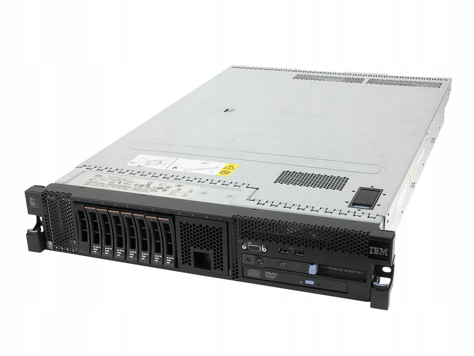 SERWER IBM X3650 M2 XEON X5570 28GB 3,7TB SAS DVD