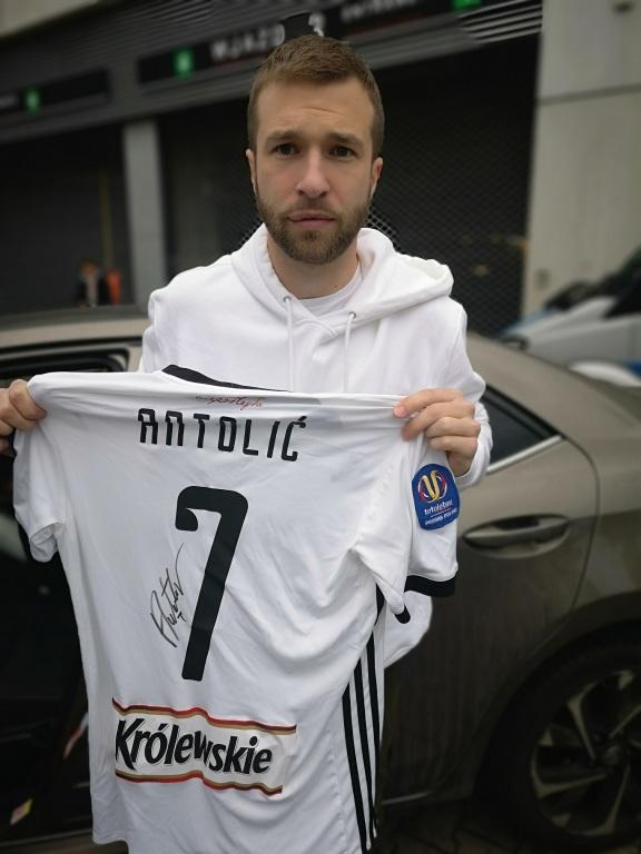 Koszulka + spodenki meczowe D.Antolic z autografem
