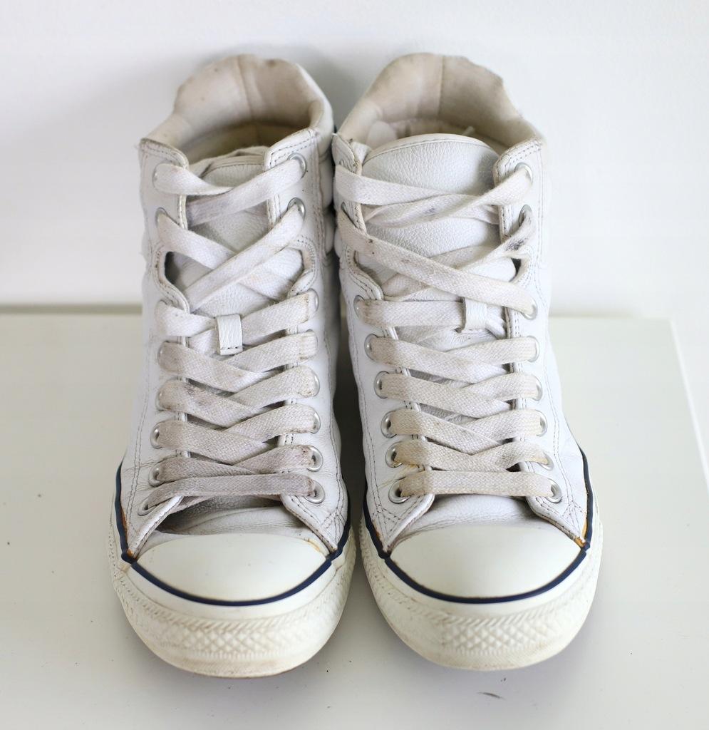 Converse All Star białe buty limitowane skóra r 40
